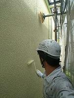 5-31外壁ダイナミックトップ上塗り2回目1