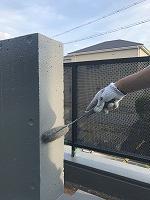 8-21外壁南面ファインSi上塗り3回目塗装(1)