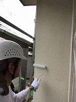 5-24外壁エポキシ系シーラーエコ下塗り塗布1