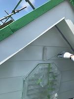 6-13南面、壁面(ニッペ4Fフッ素)上塗り塗装2回目1
