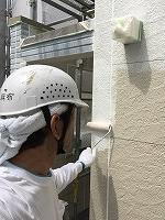 6-20外壁ソフトサーフ塗布2