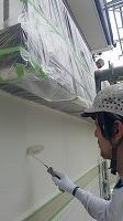 7-27外壁2階ラジカルコート上塗り2回目塗布 (5)