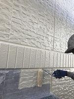 9-25外壁上塗りフッ素塗布1回目1