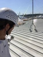 8-31屋根シリコンルーフ2回目塗装 (1)