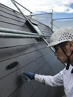 9-14大屋根サーモアイ4Fフッ素上塗り2回目塗装(1)