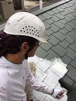 9-22屋根サーモアイ遮熱フッ素上塗り1回目塗装 (1)