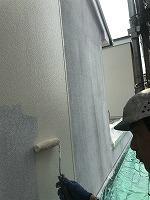 8-29外壁ラジカルコートパーフェクトトップ上塗り1回目塗装(1)