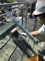 6-9屋根(SKミラクシーラーEPO)下塗り塗装1回目 (4)