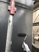 8-12外壁南面上塗りファインSi塗布2回目 (2)