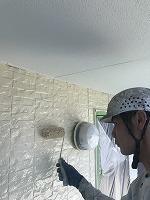 9-25外壁上塗りフッ素塗布2回目1