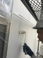 8-29外壁ラジカルコートパーフェクトトップ上塗り1回目塗装(4)