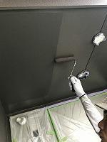 9-11、1階部軒天井ダイヤカレイド中塗り2回目塗装(1)