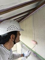 5-3外壁エポキシ系シーラー下塗り塗布1