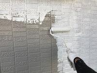 6-14外壁ソフトサーフ中塗り1回目塗布