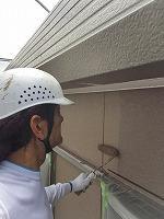 8-28外壁上塗りラジカルコートパーフェクトトップ塗布2回目 (2)