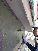 5-1一階アクセント部上塗りダイナミックトップ塗布2回目2