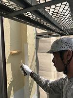4-30南面外壁上塗りフッ素塗布1回目5