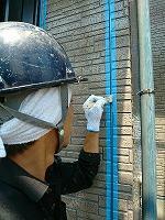 5-29外壁シール工事のエポキシ系プライマー下塗り塗布