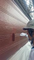 2階手すり外壁ラジカルパーフェクトトップ上塗り2回目塗布 (1)