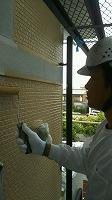 6-242階部分外壁上塗りダイナミックTOP塗布1回目