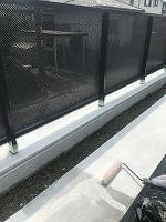 8-21外壁南面ダイナミックフィラー中塗り2回目塗装(1)