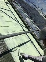 6-9屋根(ガイナ)上塗り塗装1回目2