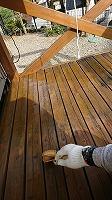 ウッドデッキ上塗りガードラックPROステイン塗布2回目 (5)