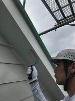 6-11軒天井上塗りケンエース塗布1回目2