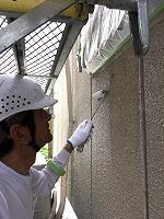 5-24外壁エポキシ系シーラーエコ下塗り塗布4