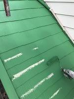 6-9屋根(ガイナ)上塗り塗装2回目4