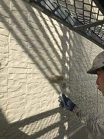 9-25外壁上塗りフッ素塗布1回目2