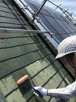 6-9屋根(SKミラクシーラーEPO)下塗り塗装1回目 (1)