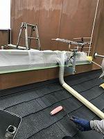 8-25大屋根ミラクシーラーEPO下塗り2回目塗装(1)