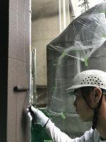 9-11、1階部外壁ダイヤカレイド中塗り2回目塗装(1)