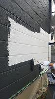 7-28外壁1階上塗りラジカルコート1回目塗布 (8)