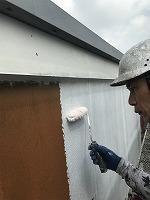 8-29外壁ソフトサーフ中塗り塗装(3)