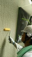 7-26外壁ミラクシーラーEPO下塗り塗布