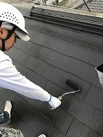 9-13大屋根サーモアイ4Fフッ素上塗り2回目塗装(1)