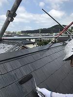 7-31屋根上塗りファインシリコンベスト塗布1回目 (3)