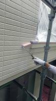 7-24外壁下塗りミラクシーラーECO塗布1回目