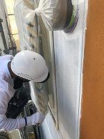 9-2外壁上塗りラジカルコート1回目塗装1