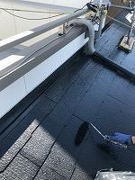 8-31大屋根シリコンベスト上塗り2回目塗装(1)