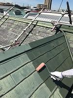 6-9屋根(SKミラクシーラーEPO)下塗り塗装1回目 (2)