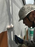 8-29外壁ソフトサーフ中塗り塗装(4)