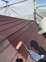 9-13大屋根ミラクシーラーEPO下塗り塗装(5)