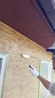 8-6外壁東西南面UVプロテクトクリヤー上塗り3回目塗装6