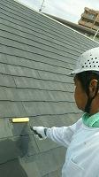7-10屋根ミラクシーラーEPO1回目塗布