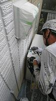 5-30壁面(SK水性ソフトサーフ)中塗り吹き付け塗装1回目4