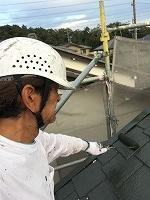 9-23屋根サーモアイフッ素上塗り2回目塗装1