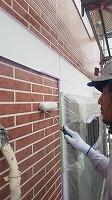 8-23外壁UVプロテクトクリヤー2回目塗装